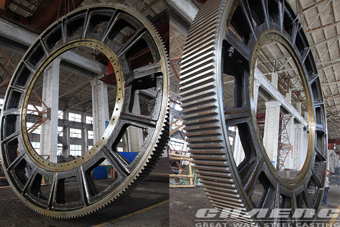 Gear ring for rotary kiln